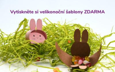 Velikonoce jsou tu – vytiskněte si šablonu jednoduché dekorace pro děti